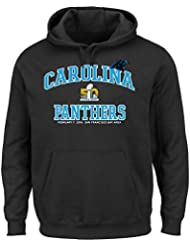 "Carolina Panthers Majestic Super Bowl 50 ""Heart & Soul"" Hooded SweatShirt Chemise"