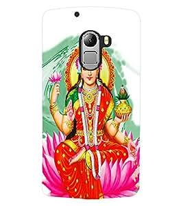 ColourCraft Maa Laxmi Design Back Case Cover for LENOVO A7010