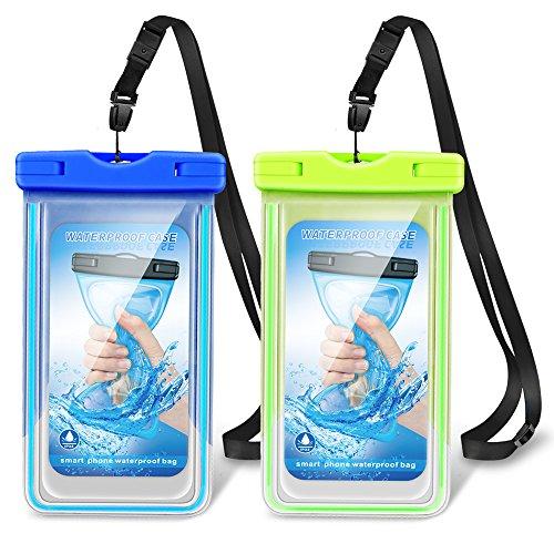 Romanda schwimmbare, wasserdichte Handyhülle mit verstellbarem Umhängeband, für iPhone/Samsung/Sony/Huawei/Moto/HTC/Blackview und mehr, bis zu 15,2 cm (6 Zoll)