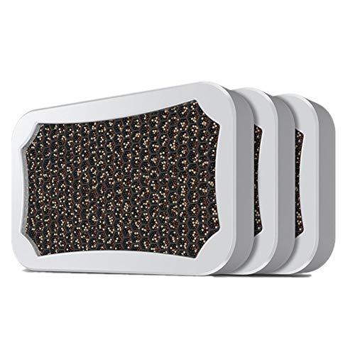 SHKY 3-Pack Naturaktivierte Bambuskohle-Lufterfrischer Deodorant Geruchsneutralisierer, Aldehydentfernende Tabletten -