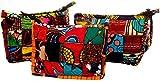 Terrapin Trading Ltd Ouganda Commerce équitable Africaine Kitenge Patchwork Multicouleur Make Up Pochette
