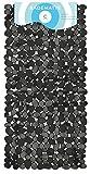 Circul Badewannenmatte 70 x 35 cm schwarz Steinoptik modern