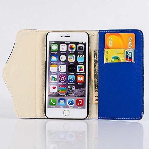 Custodia inShang cover per iPhone 6 iPhone 6S 4.7, Cover con Cerniera + build-in tasca + Flower Decoration, Supporto rigido per iPhone6 iPhone6S Case in pelle PU + inShang Logo pennino di alta classe zipper ship navy blue