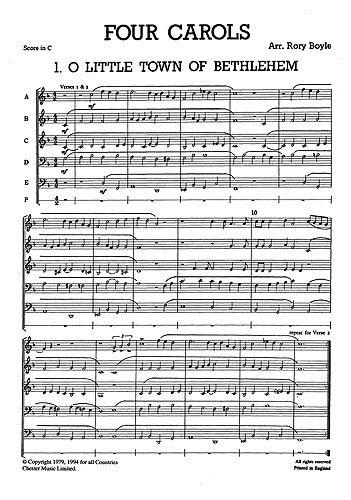 Junior Just Messing 03: Vier Weihnachtslieder für Messing 5Teil. Noten für 2Trompete, Horn, Posaune, Tuba