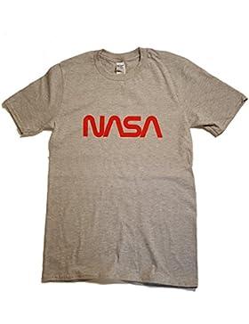 Logotipo de gusano NASA con licencia Camiseta para hombre Premium (Impresión de vinilo)