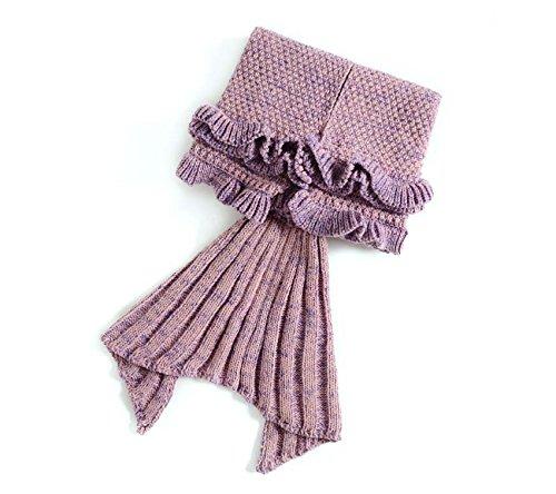 Vlunt Meerjungfrau Decke Strickmuster Decke Meerjungfrau Schwanz Decke Kinder Stil