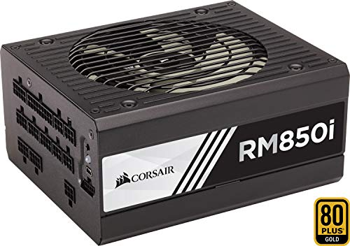 Corsair RM850i PC-Netzteil (Voll-Modulares Kabelmanagement, 80 Plus Gold, 850 Watt, EU) -