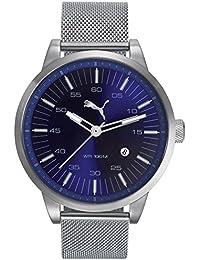 Puma Time Cool PU103641010 - Montre Quartz - Affichage Analogique Classique - Bracelet Acier Inoxydable Argent et Cadran Bleu - Homme