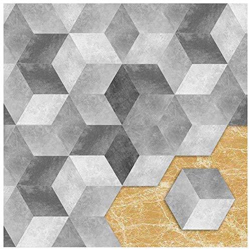 Apsoonsell piastrelle adesive muro esagonale-shaped pvc geometrico grigio impermeabile decorazione per cucina bagno fai da te set di 10 pezzi (lunghezza: 11,5 cm di diametro: 23 cm)