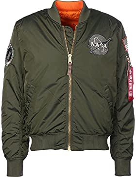 Alpha Industries reversible bomber verde oscuro MA-1 VF NASA RP
