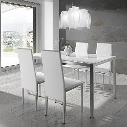 Conjunto de mesa y sillas - Blanco