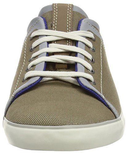 Clarks Rorric Plain, Baskets homme Vert (Olive Canvas)