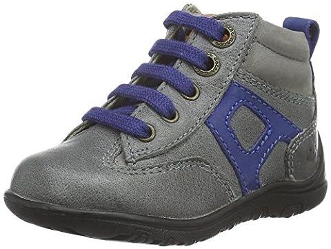 Aster Track, Chaussures Premiers pas bébé garçon, Gris (Gris Foncé), 25 EU