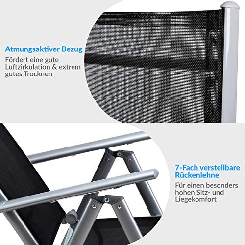 Deuba® Aluminium Sitzgruppe 8+1 Silber - 4