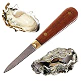 BIlinl Utility Wooden Handle Oyster Knife Sharp-edged Shucker Shell Seafood Opener Tool