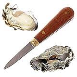 BIlinl Utility Holzgriff-Austernmesser Scharfkantiges Shucker Shell Seafood Opener-Werkzeug
