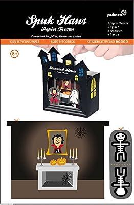 Bastelbogen Geisterhaus Halloween - Pukcaka DIY Bastelbögen Papier-Karton für Kindergeburtstag als Geschenkidee, Bastelidee für Jungs von Forum Traiani ®   Der Römer Shop