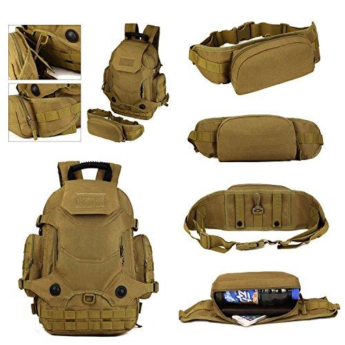 40L wasserdicht Tactical Military MOLLE Assault Rucksack Pack Rucksack Set Groß für Camping Wandern Angeln Jagd Reisen und EDC Desert digital