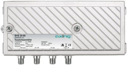 Axing BVS 20-66 Hausanschluss-Verstärker für Kabelfernsehen digital, eingebauter aktiver Rückkanal, zur Fernspeisung (38dB, 107dBµV, 1006 MHz)