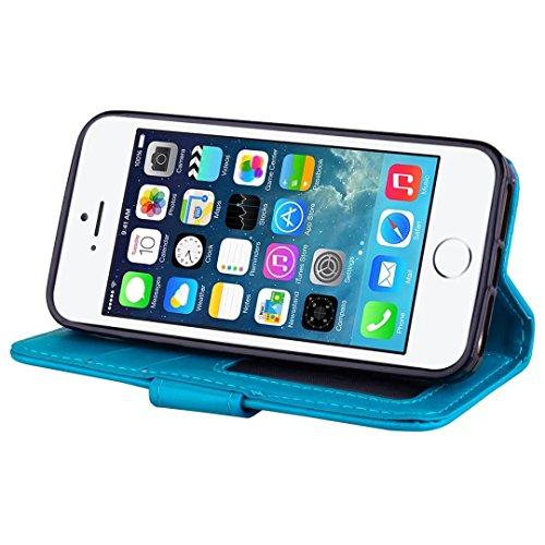 Cover iPhone 6/6s Plus DECHYI unicorno Custodia Matte Scintillante modello di Star Glitter Custodia.-Rosa rossa-02 blu-01