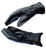 #7: Black Premium High Quality Soft Leather Warm Winter Protective Riding Gloves