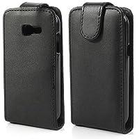 Flip Case Handy-Hülle zu Samsung Galaxy Trend Lite / GT-S7390 schwarz Schutzhülle