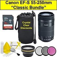 Classic Bundle For Canon EF-S 55-250 mm f/4-5.6 IS STM Lens,Black (EF-S 55-250 mm)
