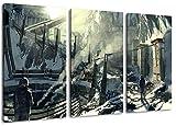 Killzone pintura sobre lienzo, (Total Tamaño: 120x80 cm) enormes imágenes completamente enmarcado con camilla, la lámina en cuadro de la pared con marco