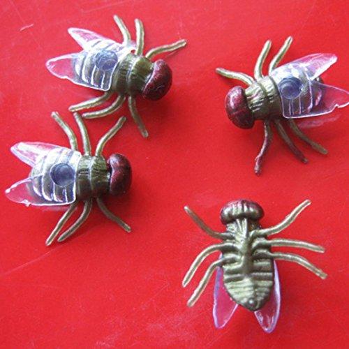 een Kunststoff Flys Joking Spielzeug Dekoration Realistisch (Grün) (In Voller Größe Skelett Dekoration)