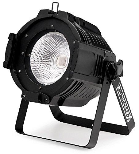 Showlite PAR-90C 90W COB Scheinwerfer RGB (sehr heller LED-Scheinwerfer, Manuelle-, Automatik-, Musik- und DMX-Steuerung mit 7 Kanälen, 30° Abstrahlwinkel, Stroboskop- und Dimmerfunktion) schwarz -