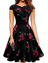 E-Girl M120818D Robe de bal Vintage pin-up 50's Rockabilly robe de soirée cocktail,S-XXXXL