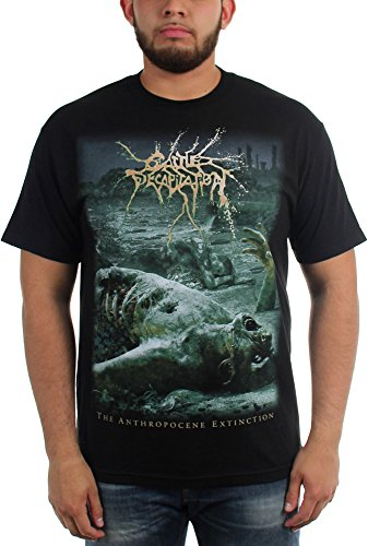 Cattle Decapitation-Anthropocene estinzione-Maglietta da uomo nero Small