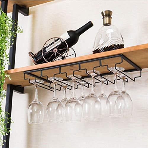XuBa Weinglas-Hängehalter für Gläser, Eisen, zur Wandmontage, für Stielgläser C