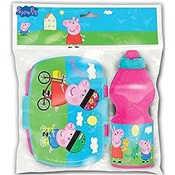 Peppa Pig Set botella sport y sandwichera rectangular (0/12)