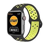 SYOSIN Cinturino per Apple Watch, Morbido Silicone Sport Cinturini di Ricambio per Apple Watch Serie 1, Serie 2, Serie 3 Serie 4,...