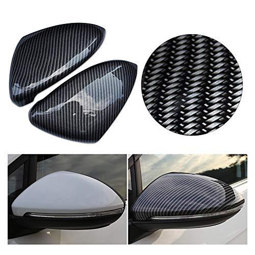 Katurn 1 para Auto Seitenspiegelkappen für Volkswagen Golf 7, Kohlefaser Muster Modifikation Rückspiegelabdeckung, Golf 7 Spiegel Sitz Dekoration, Autozubehör