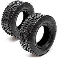 Set 2x cubiertas ruedas tractor cortacésped 13x5.00-6 Ruedas segadora jardín Accesorios jardinería