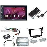 Sony XNV-KIT200 CarPlay Android Auto USB CD DVD Autoradio Touchscreen Moniveiver Einbauset für Hyundai i30 GD GDH