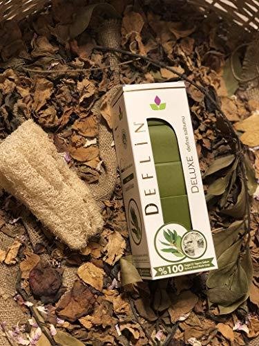 Deflin ✔ Lorbeer Seifen Natur -%100 Handgemacht - aus Olivenöl und Lorbeeröl ''5 Stück 750 Gr'' -