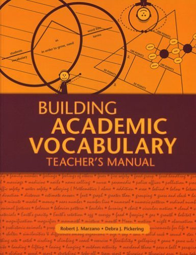 Building Academic Vocabulary: Teacher's Manual 1st by Marzano, Robert J., Pickering, Debra J. (2005) Paperback