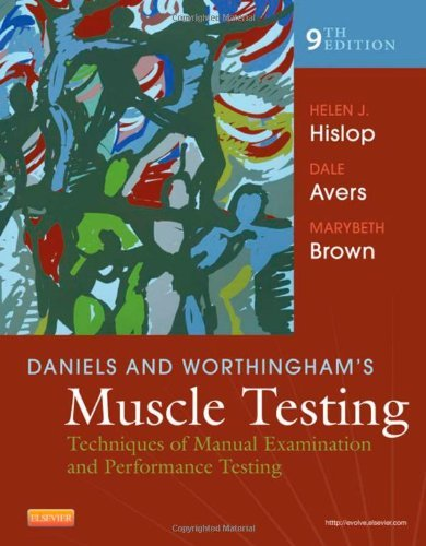 Daniels and Worthingham's Muscle Testing: Techniques of Manual Examination and Performance Testing, 9e by Helen Hislop PhD ScD FAPTA (27-Mar-2013) Spiral-bound