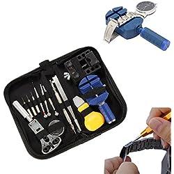 BABAN 13 Pcs Portable Watchmaker Watch Repair Tools Kit Set Back Case Opener Adjuster Remover