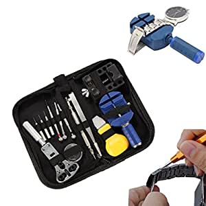 BABAN 13 Pcs Portable Watchmaker Watch Repair Tools Kit Set Back Case Opener Adjuster Remover