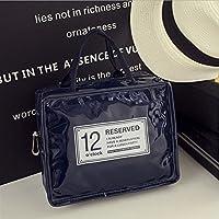 Preisvergleich für Yudanwin Leinwand-Lunch-Tasche Candy-farbige Wasserdichte Insulation Bag Lunch Bag (dunkelblau)