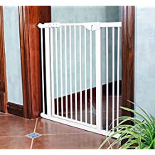Puerta Para Bebés Con Puerta Para Mascotas Puerta Para Bebés Retráctil Seguridad Para Bebés Parque Infantil Puerta De Seguridad Para Niños Barrera Para Niños Puerta Puerta Escalera Puertas ( Tamaño : 111-117cm )