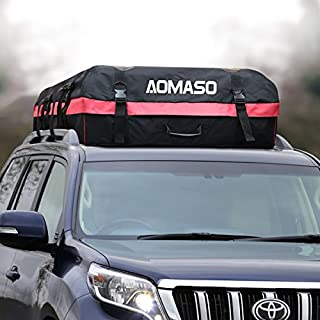 Aomaso Auto Dachboxen,10 Kubikfuß Wert Faltbox und Wasserdicht Auto Oberseite Träger, Einfach zu Installieren Autos Softbox für Lange Reisen, Feiertage und Gepäcktransport