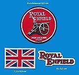 Royal Enfield parche para planchar Patch 3pieza Moto Bullet England Turbo Envío