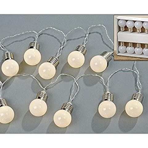 10LED–Guirlande lumineuse Ampoule LED 140cm Batterie