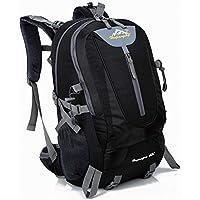 40L Mens impermeable al aire libre impermeable deportes mochila viajes de senderismo camping bolsa mochila bolsa mejor regalo de Navidad (Negro)