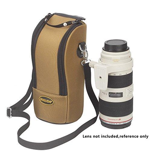 DLD-K Padded Thick wasserdicht Objektiv Tasche Tasche für Schützen DSLR Kameraobjektiv mit Schultergurt für Canon 70-200 / 2,8 / Nikon 70-200 / 2,8 (Khaki)